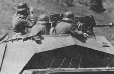 Панцергренадеры на бронетранспортере Sd Kfz 251