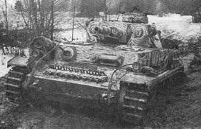 Танк Pz IV F1 5-й танковой дивизии под Москвой