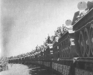 Эшелон с советскими танками